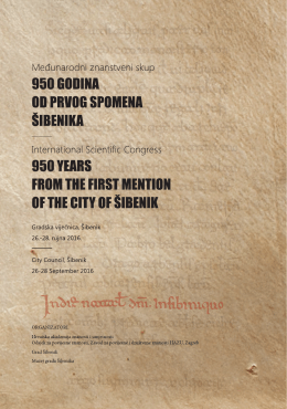 950 years from the first mention of the city of šibenik
