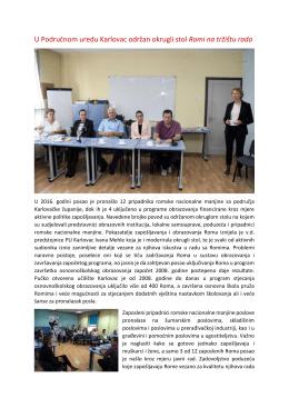 U Područnom uredu Karlovac održan okrugli stol Romi na - HZZ-a