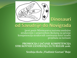 Dinosauri od Savudrije do Novigrada
