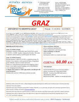 GRAZ 21.10. - Putnicka Agencija BNS Company Srebrenik