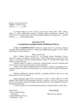 11. prijedlog rješenja o razrješenju ravnatelja muzeja međimurja