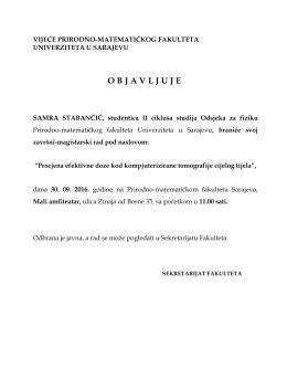 Odbrana II ciklus fizika Samra Stabančić