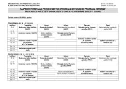 Broj: 29 - Medicinski fakultet u Sarajevu