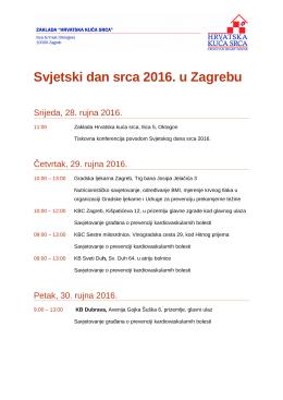 Program svjetskog dana srca - Dom zdravlja Zagreb