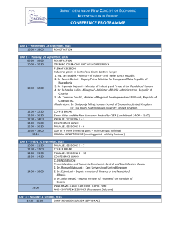 conference programme - Smart Ideas and a New Concept of