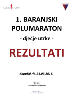 dječje utrke - AK Slavonija