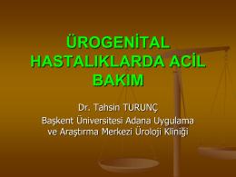 ürogenital hastalıklarda acil bakım