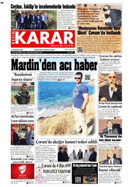 27 Eylül 2016 - Kesin Karar Gazetesi