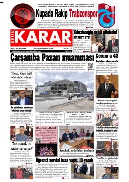 29 Eylül 2016 - Kesin Karar Gazetesi