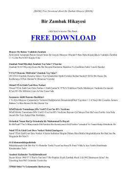 BIR ZAMBAK HIKAYESI | ebook PDF