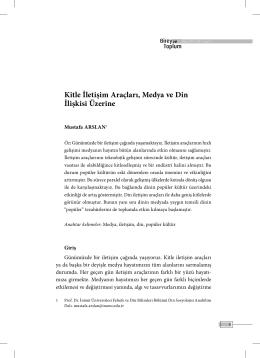Bu PDF dosyasını indir - Birey ve Toplum Sosyal Bilimler Dergisi