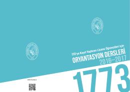Broşür - İTÜ Yabancı Diller Yüksekokulu