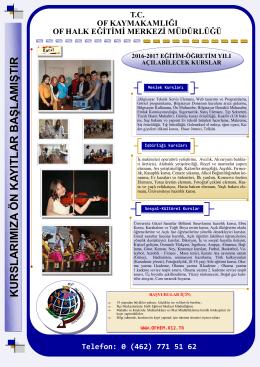 2016-2017 eğitim-öğretim broşürü