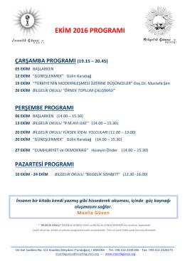 ıgv ekim 2016 aylık program