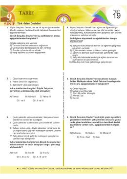 9. SINIF TEST19 YENİ.indd - Ölçme, Değerlendirme ve Sınav