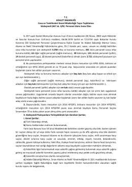 Adalet Bakanlığı Ceza Ve Tevkifevleri Genel Müdürlüğü Sözleşmeli