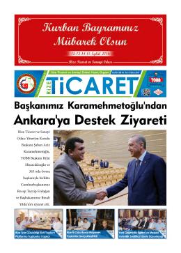 Ankara`ya Destek Ziyareti - Rize Ticaret ve Sanayi Odası