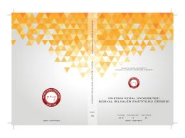 Bu PDF dosyasını indir - Mustafa Kemal Üniversitesi Sosyal Bilimler