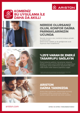 Ariston Net A4 Tek Yaprak Brosur WEB