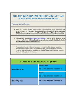 Program Kayıtları - Fen Bilimleri Enstitüsü