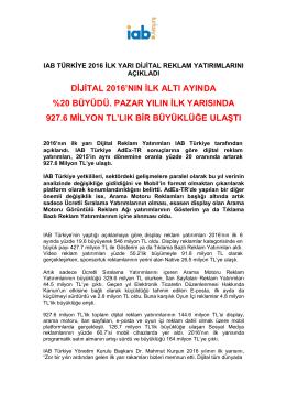açıklandı - IAB Türkiye
