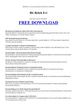 BIR BEBEK EVI   ebook PDF