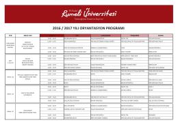2016-2017 yılı rumeli üniv. oryantasyon prog.