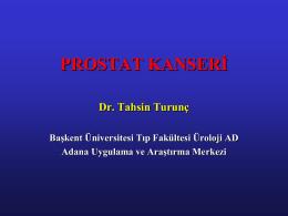 prostat tümörü