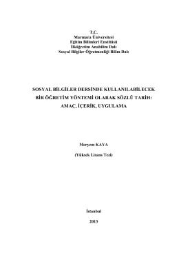 349993 - Sözlü Tarih Araştırmaları
