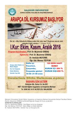 buradan - Balıkesir Üniversitesi