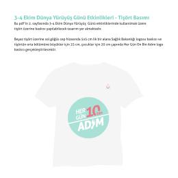 3-4 Ekim Dünya Yürüyüş Günü Etkinlikleri - Tişört