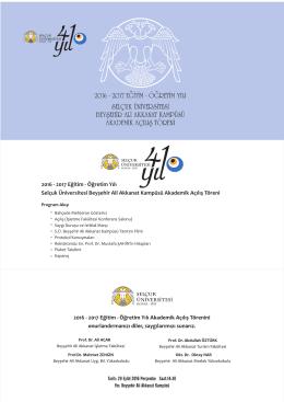 Beyşehir Ali Akkanat Kampüsü Akademik Açılış Töreni