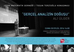 buradan - Türk Matematik Derneği