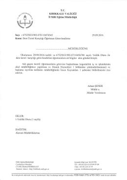fusJğ - kırıkkale il millî eğitim müdürlüğü