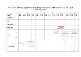 (2. Ö)YL Ders Programı