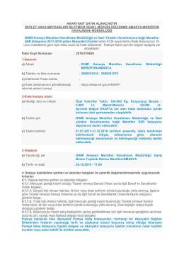 DHMİ Amasya Merzifon Havalimanı Müdürlüğü ve İdari Yönden