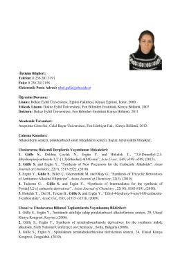 Arş. Gör. Dr. Sibel GÜLLE - Celal Bayar Üniversitesi