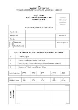 başvuru formu - Bayburt Üniversitesi