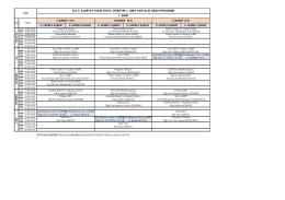İLH Lisans II. Öğretim Ders Programı
