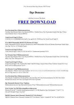 dgs deneme | book pdf