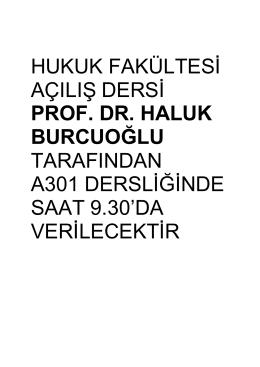 prof. dr. haluk burcuoğlu