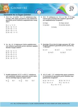 Geometrik Yer ve Üçgen Çizimleri - Ölçme, Değerlendirme ve Sınav