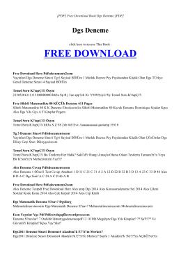 dgs deneme   book pdf