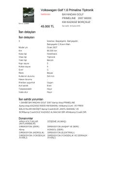 Volkswagen Golf 1.6 Primeline Tiptronik 45.000 TL İlan detayları