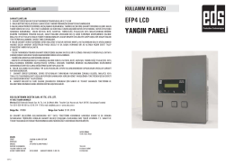 EFP4 LCD yangın paneli