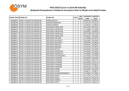 KPSS-2016/5 Çevre ve Şehircilik Bakanlığı Sözleşmeli