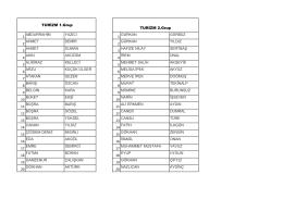 turizm grubu öğrenci listeleri