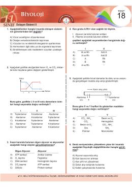 Dolaşım Sistemi II - Ölçme, Değerlendirme ve Sınav Hizmetleri