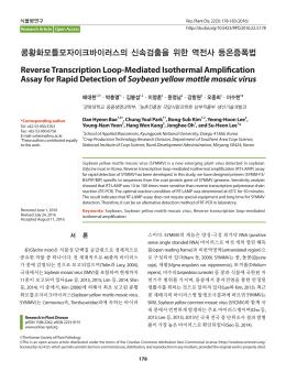 콩황화모틀모자이크바이러스의 신속검출을 위한 역전사 등온증폭법