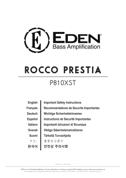 Rocco PRestia - EDEN Amplification